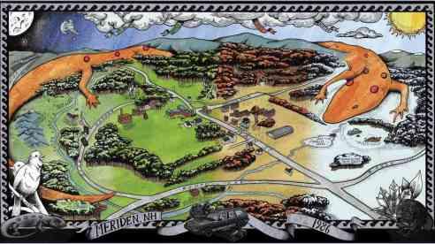 Meriden, N.H. map, by William Schaff